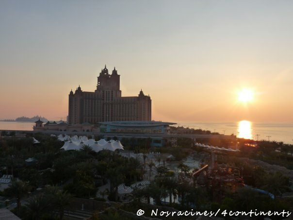 L'Atlantis The Palm au coucher du soleil