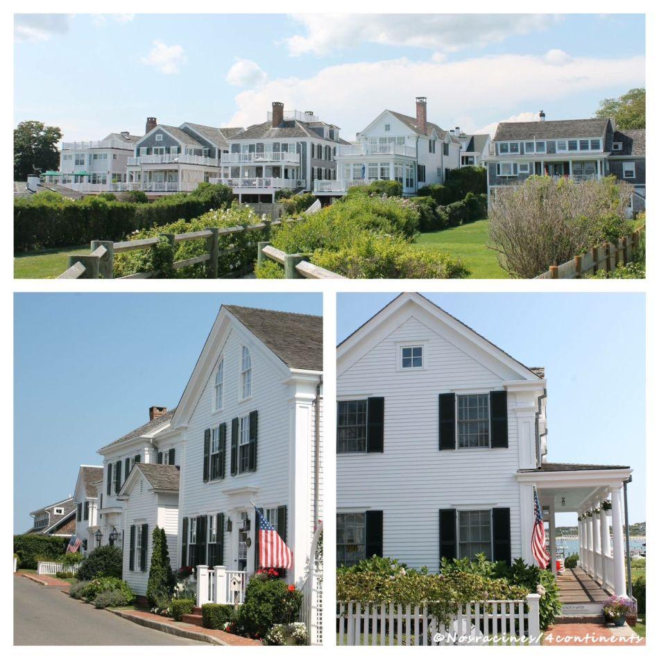 Les maisons blanches et grises d'Edgartown, Martha's Vineyard - 2014