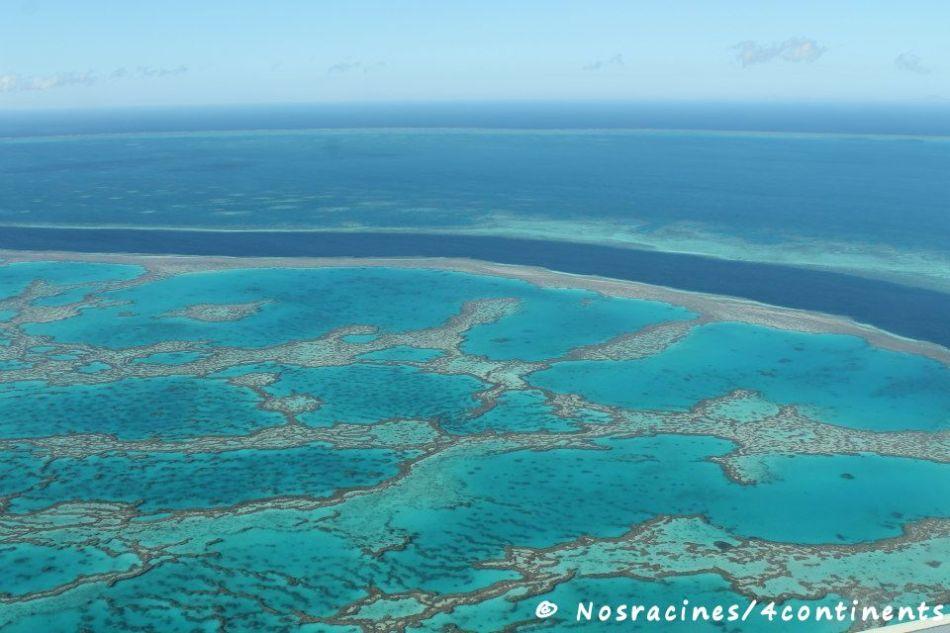 Grande Barrière de Corail, vue du ciel