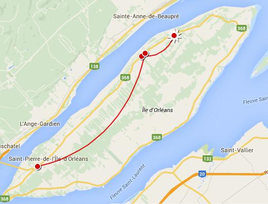 Notre itinéraire annuel sur l'île d'Orléans, Québec