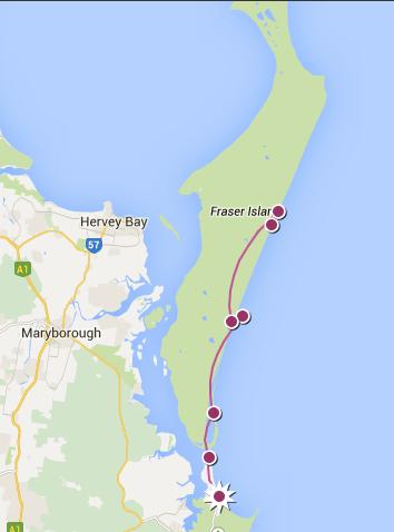 Notre itinéraire sur Fraser Island, Australie - 2012