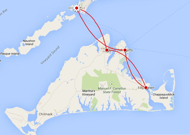 Notre itinéraire d'une journée sur Martha's Vineyard, États-Unis - 2014