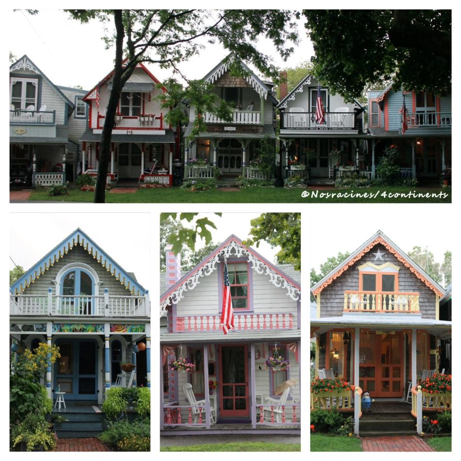 Les « Gingerbread Cottages », Oak Bluffs, Martha's Vineyard - 2014