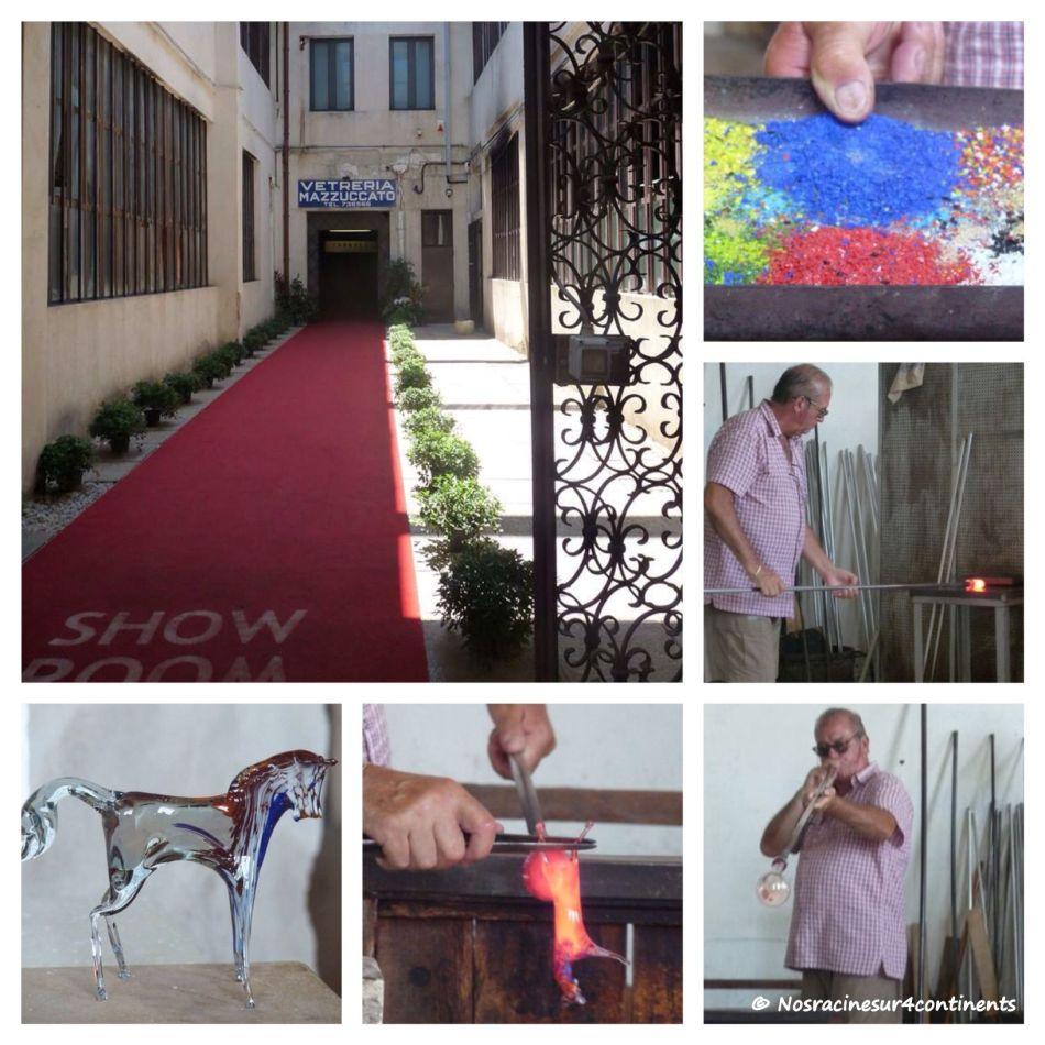 Démonstration d'un souffleur de verre de Murano - 2011