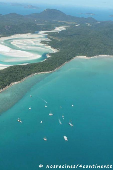 Whitsunday Island, vue du ciel