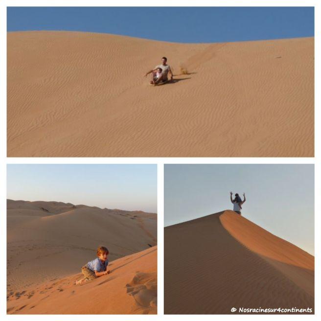 Jeux et glissades dans les dunes du désert de Wahiba, Sultanat d'Oman - 2010