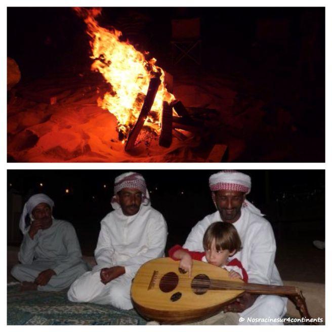 Feu de camp dans le désert de Wahiba, Sultanat d'Oman - 2010