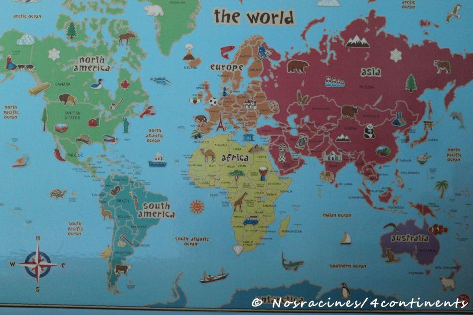 Carte du monde de mon fils cadet
