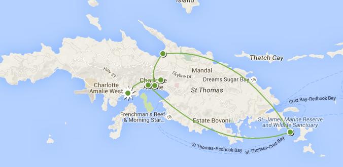 Saint-Thomas : lieux de légendes et attraits touristiques