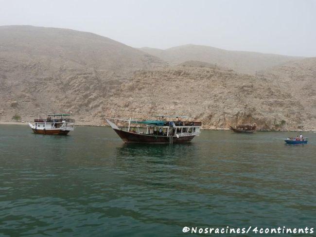 Port de Dibba, les boutres attendent leurs passagers