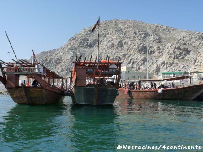 Les boutres du port de Khasab, Musandam