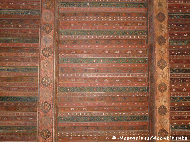 Les plafonds du château de Jabrin nous impressionnent