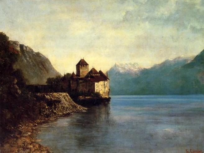 Le château de Chillon peint par Gustave Courbet en 1874