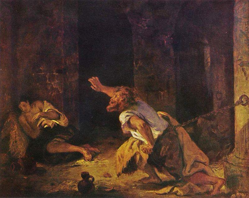 Le Prisonnier de Chillon, par Eugène Delacroix