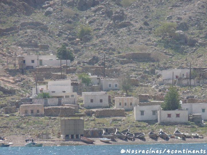 Les maisons blanches des pêcheurs