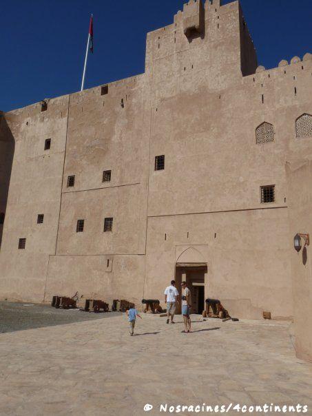 Notre arrivée au château de Jabrin, Sultanat d'Oman