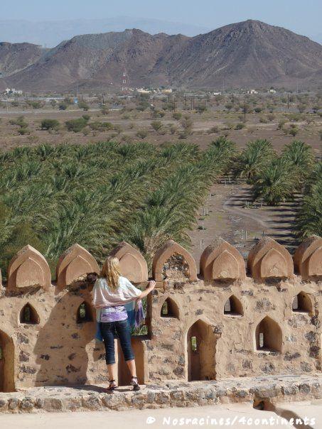 La vue sur la palmeraie, au sommet du château de Jabrin