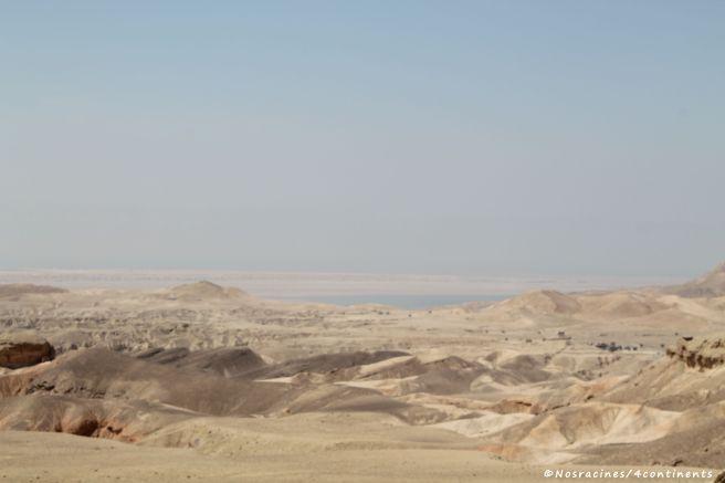 Des paysages désertiques, en route vers Pétra