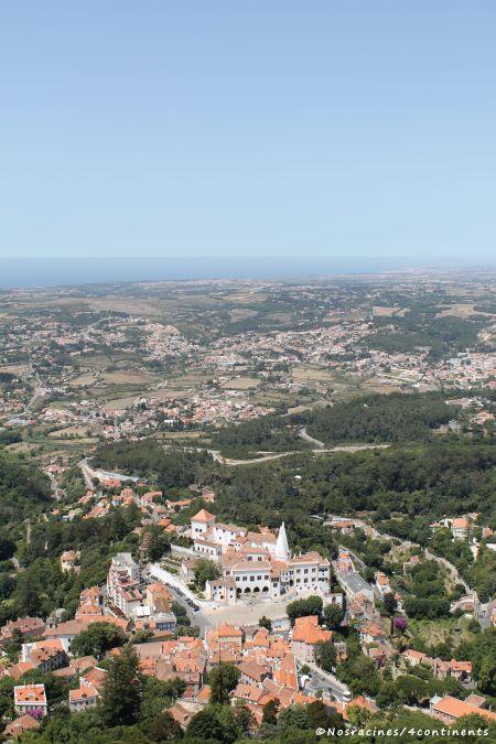 Le château des Maures offre une vue splendide sur la ville de Sintra