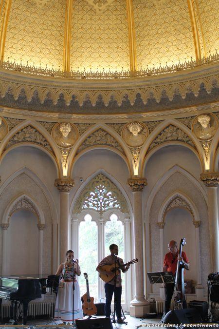 La salle de musique, où un orchestre jouait des airs mexicains, Palais de Monserrate