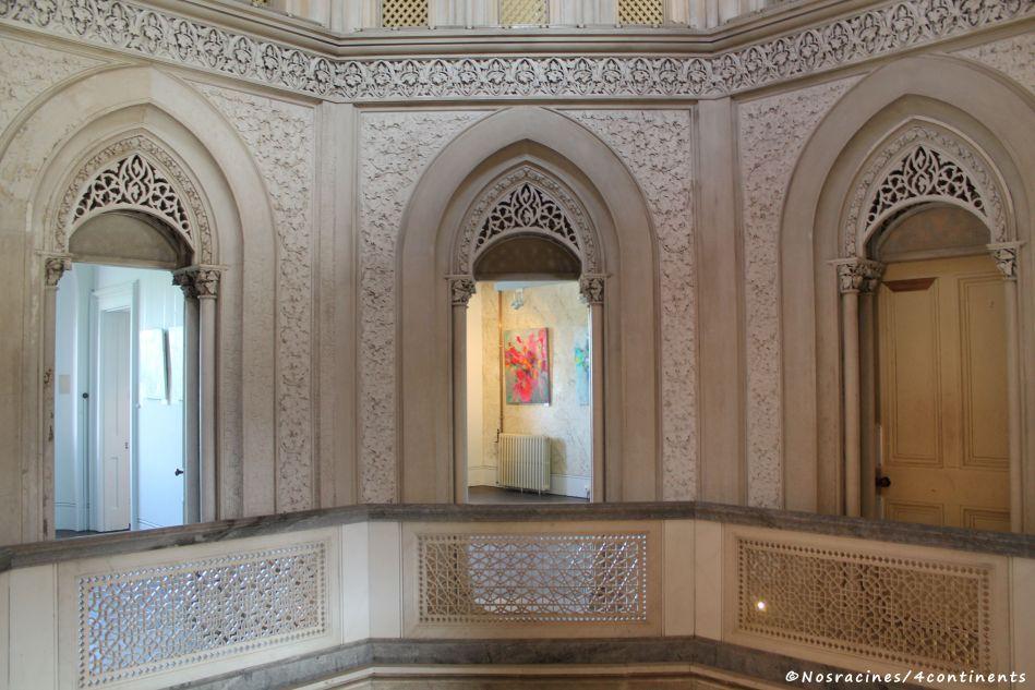 Les pièces de l'étage, au-dessus du hall d'entrée, Palais de Monserrate