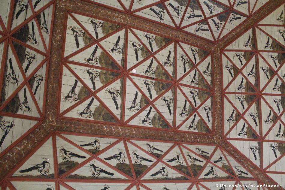 Le plafond de la Salle des pies, Palais national de Sintra