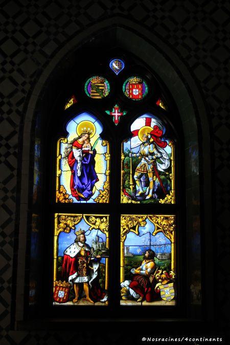 Le magnifique vitrail de la chapelle du Palais de Pena