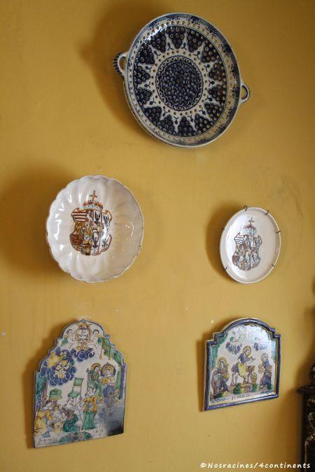 Des assiettes peintes par le roi, Palais de Pena