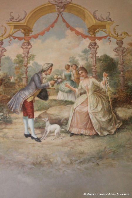 Une fresque de la salle de musique, Quinta da Regaleira