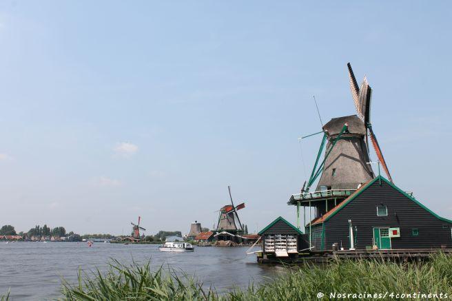 Le village de Zaanse Schans et ses magnifiques moulins