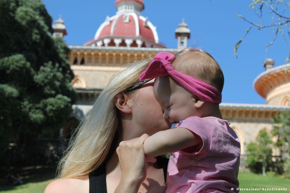 Aude et moi au Palais de Monserrate, au Portugal
