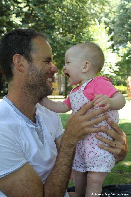 Aude et son papa à Porto, au Portugal