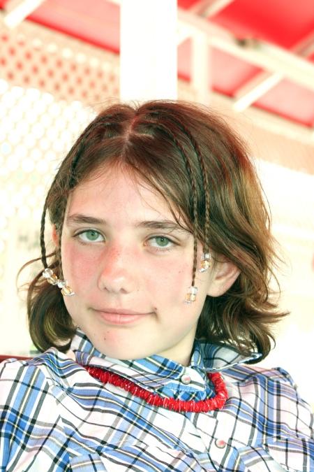Chloé, lors d'une croisière à Antigua