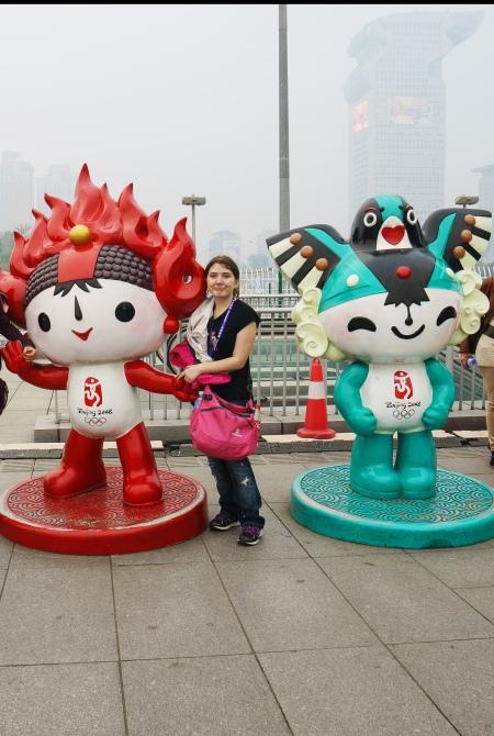 Chloé à Beijing, lors d'un voyage scolaire en Chine