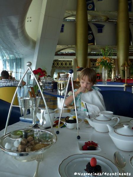 Le thé au Burj al Arab