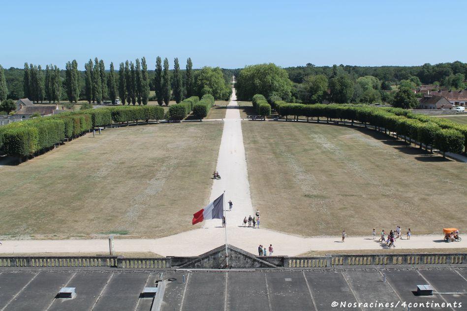 La vue sur les environs, à partir des terrasses du château