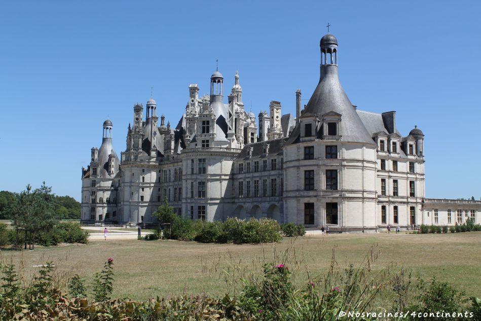 Notre arrivée au Château de Chambord