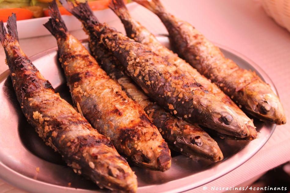 Les sardines grillées, une autre spécialité lisboète