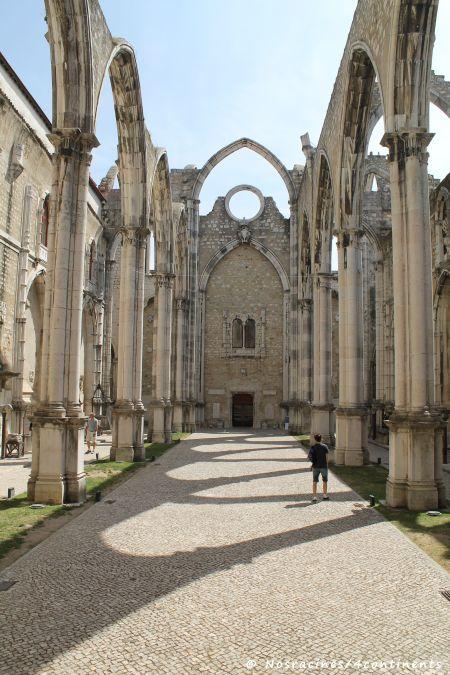 Les ruines du Convento do Carmo, qui fut détruit lors du tremblement de terre de 1755