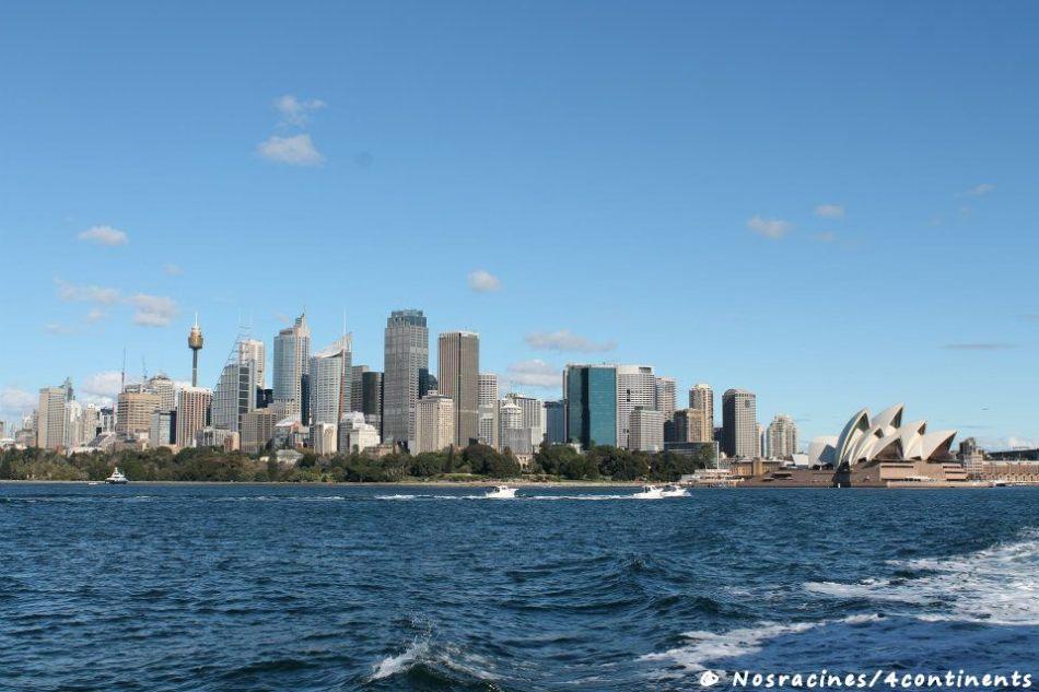 Vue sur la ville de Sydney en ferry