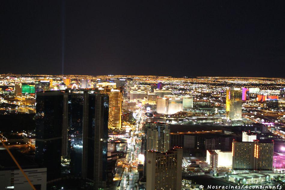 Vue sur Las Vegas, du haut de la Stratosphere