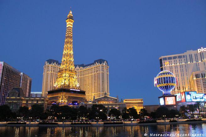 Le Paris Las Vegas, vu du Bellagio