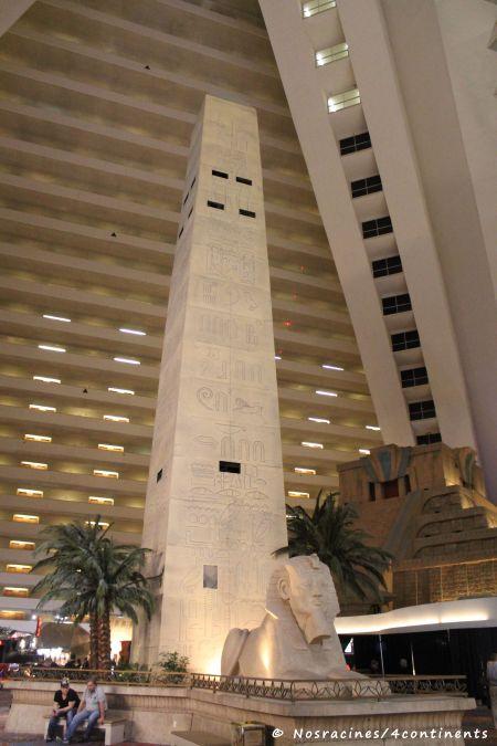 L'intérieur de la pyramide