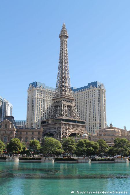 Gros plan sur la Tour Eiffel, vue du Bellagio