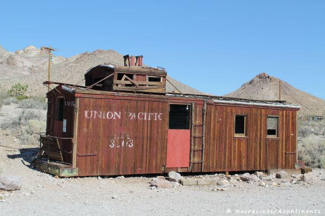 Un ancien wagon de l'Union Pacific