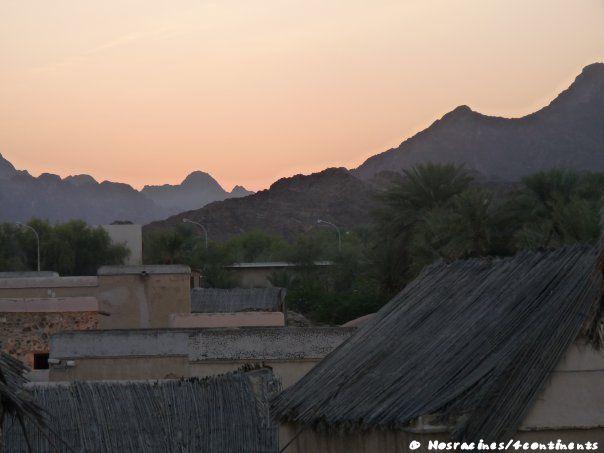 La vue sur le village en hauteur, Hatta Heritage Village