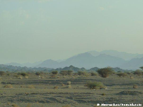 Et le paysage change, pour laisser place aux montagnes et aux wadis