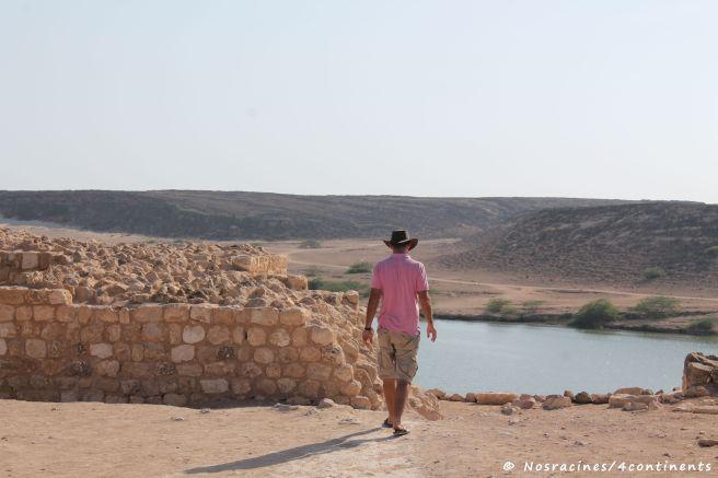 La vue du site archéologique, un emplacement stratégique
