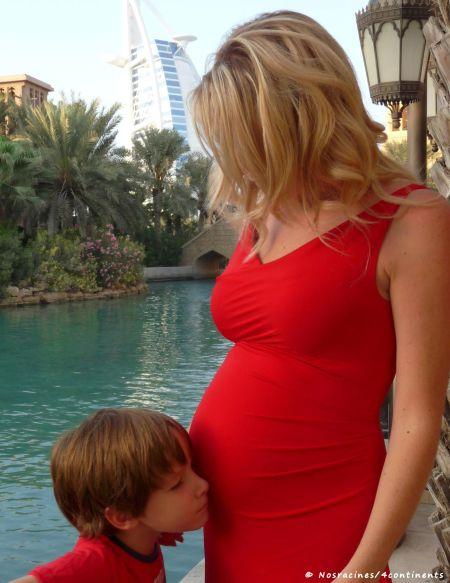 À Dubaï, peu de temps avant la naissance de mon fils cadet