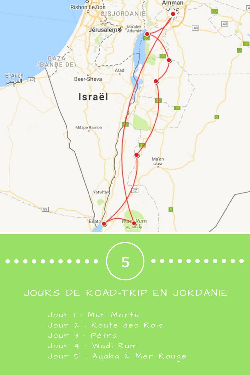 Jordanie_itinéraire